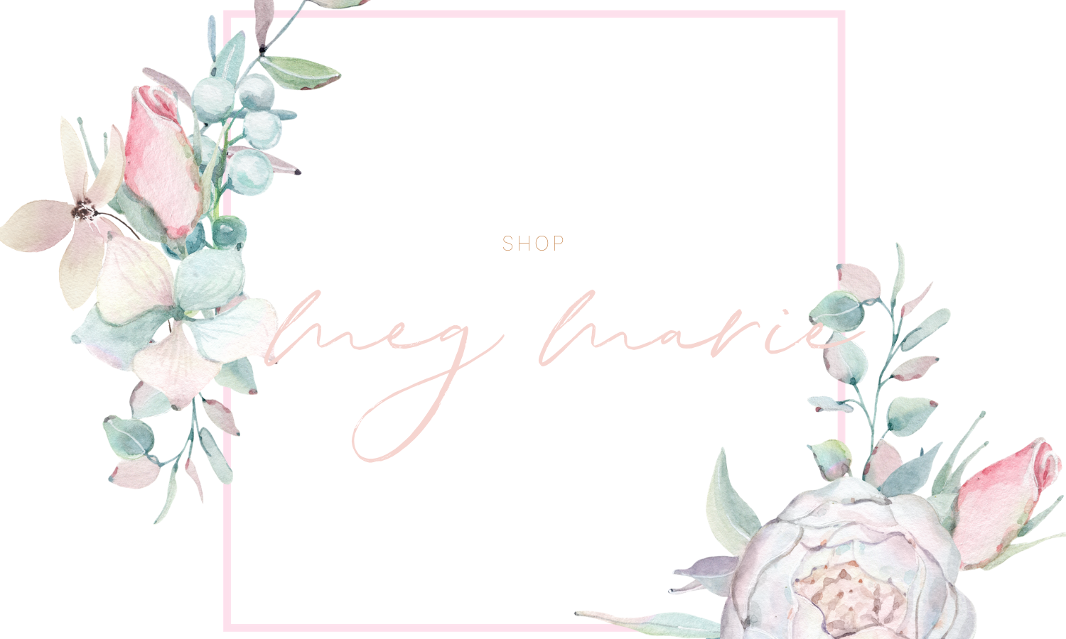 shop carousel | meg Marie Wallace | shop announcement